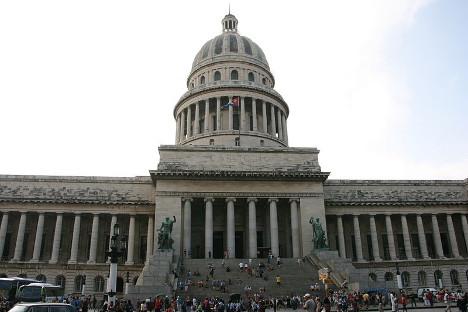 Зградата на кубанското Национално собрание на народната власт во Хавана (Капитолио). Фотографија: Марко Занферари.