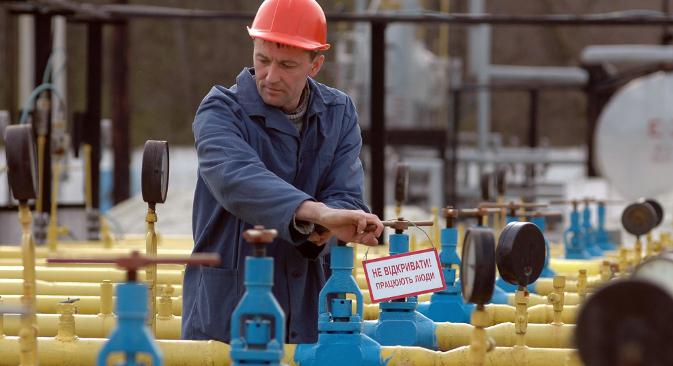 Од почетокот на март преземањето на рускиот гас од украинскиот гасовод од страна на европските земји нагло порасна. Извор: ИТАР-ТАСС