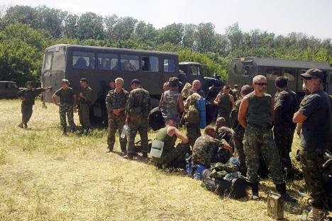 Украински војници во Ростовската област. Извор: РИА Новости
