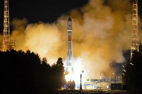"""Лансирањето на сателит од космодромот """"Плесецк"""" (север на европскиот дел на Русија) во високата елиптична орбита со помош на ракета-носител """"Сојуз-2.1б"""" е планирано за летото 2015. Извор: Андреј Моргунов"""
