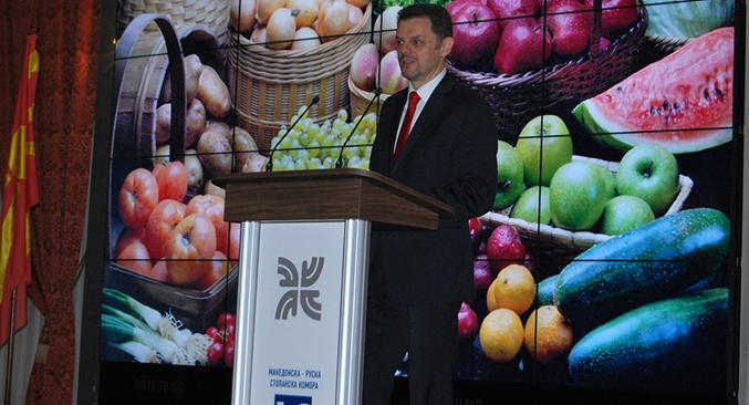 Зоран Ставрески, министер за финансии на РМ. Извор: Македонско-руска стопанска комора.