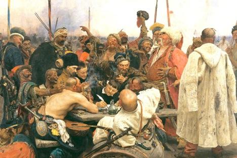Запорошките козаци му пишуваат писмо на слутанот. Слика: Илја Репин.