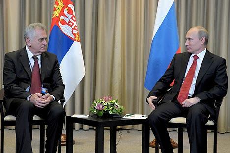 Томислав Николић се састао са Владимиром Путином приликом своје недавне посете конгресу Јединствене Русије. Извор: Ројтерс.