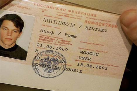 """Ovako izgleda ruski jezik u filmu """"Bourneov identitet""""."""