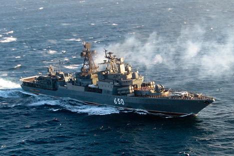 """Велики противподморнички брод """"Адмирал Чабаненко"""". Извор: Министарство одбране Руске Федерације."""