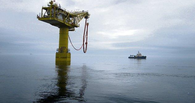 Гасна платформа поред острва Сахалин, руски Далеки Исток. Извор: ИТАР-ТАСС.