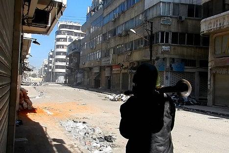 Kota Homs di Suriah.