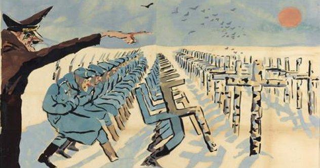 Хитлеров поход на Исток завршава се уништењем нацистичке војске: совјетски постер из времена Великог отаџбинског рата 1941-1945.