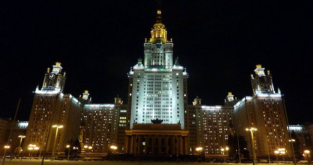 """Главна зграда Московског државног универзитета """"Михаил Ломоносов"""", највише здање на свету посвећено образовању. Извор: Lori / Legion Media."""