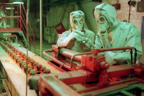 У Русији је до сада уништено 26,5 хиљада тона или приближно 66% хемијског оружја. Извор: ИТАР-ТАСС.