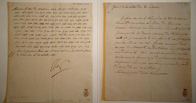 """""""Дићи ћу Кремљ у ваздух 22. октобра у три сата ујутро"""", каже Наполеон у шифрованом писму, на коме стоји датум 20. октобар 1812. Извор: AP."""