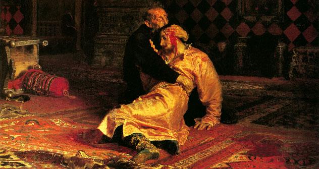 """Иља Рјепин, """"Иван Грозни и његов син Иван, 16. новембра 1581. године"""", 1885."""