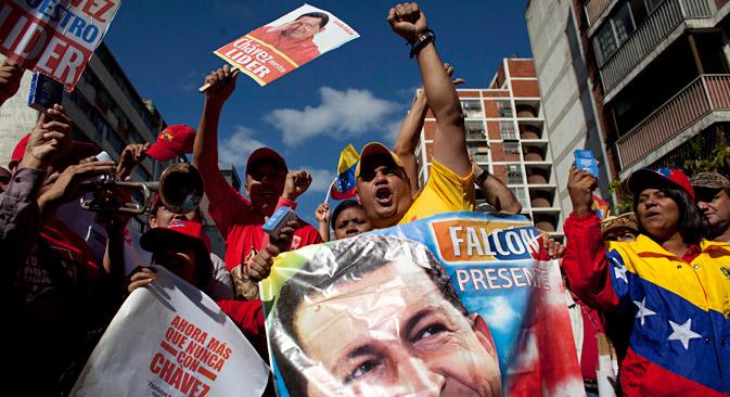 Демонстрацијe подршке председнику Чавесу у Каракасу. Извор: AP.