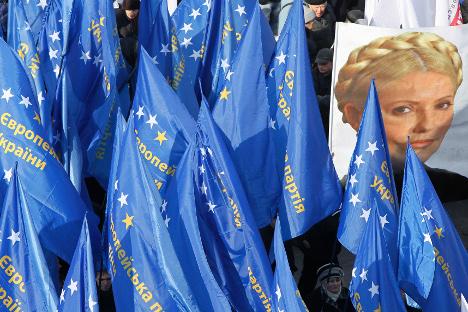"""И украјински председник и опозиција сматрају да """"Европа нема алтернативу"""". Извор: Reuters."""