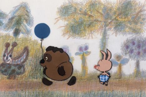 """Сцена из цртаног филма """"Вини Пу и пчеле"""" (СССР, 1971). Извор: Росијска газета."""