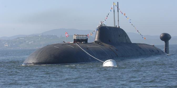 """Подморница из пројекта 971 (класа """"Штука-Б""""). Извор: ИТАР-ТАСС."""