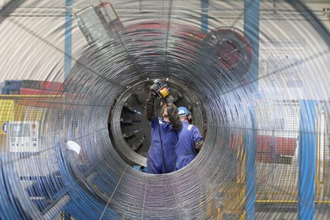 """""""Северни ток"""" је изграђен са истом идејом која стоји иза планираног """"Јужног тока"""": да проток гаса из Русије не зависи од непоузданих посредника. Извор: Reuters/Vostock Photo."""