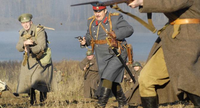 """Реконструкција """"Рат 1916. године"""" у оквиру Међународног војнопатриотског фестивала у Солнечногорску. Извор: Алексеј Дружин / РИА """"Новости""""."""