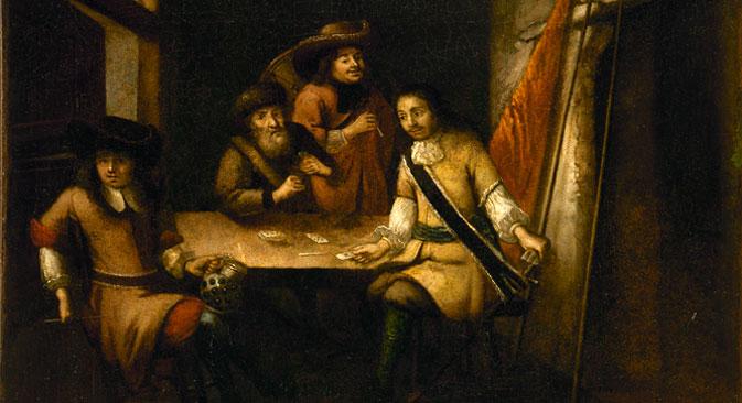 Непознати холандски уметник: Говор Петра I у Холандији (око 1690). Извор: Hermitage Amsterdam.