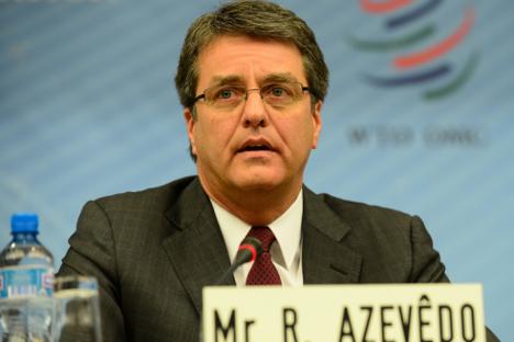 За Русију је избор Роберта Азеведа важан и због имиџа, јер нови шеф СТО може објавити свој програм управо у Руској Федерацији. Извор: wto.org / WTO / Studio Casagrande.