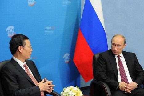 Владимир Путин је такође истакао и добре изгледе Русије и Кине за сарадњу у области високих технологија. Извор: kremlin.ru.