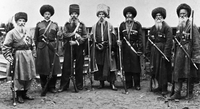 Кубањски Козаци. Фотографија од крајот на 19 век. Извор: РИА Новости.