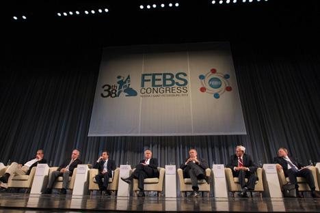 На конгресу у Санкт Петербургу учествовало је чак 11 добитника Нобелове награде. Извор: ИТАР-ТАСС.