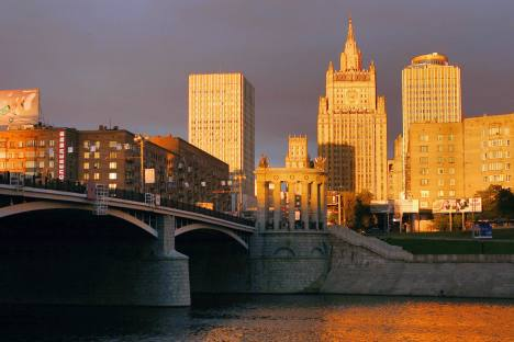 Зграда Министарства иностраних послова РФ у Москви. Извор: ИТАР-ТАСС.