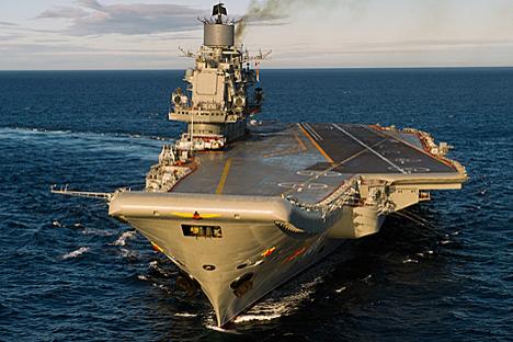 """Cruzador porta-aviões """"Almirante da União Soviética Frota Kuznetsov"""" Foto: mil.ru"""
