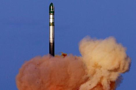 """Ракетата од типот """"Војвода"""" може да се лансира за 10 до 20 минути откако ќе добие наредба за старт. Фотографија: mil.ru"""