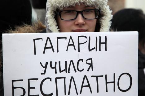 """""""Гагарин се школовао бесплатно"""": поређење совјетског и савременог руског образовног система код многих изазива забринутост. Извор: ИТАР-ТАСС."""