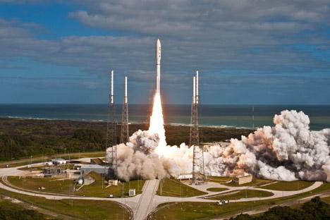 Ракете Atlas V са моторима РД-180 редовно се користе за извођење војних објеката у орбиту. Извор: НАСА.