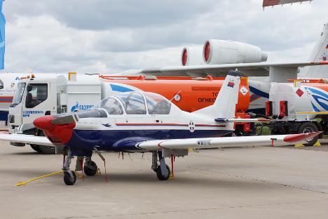 """Српски авион """"Ласта 95"""" могао би да замени авионе са клипним мотором из породице """"Јак"""", који се данас користе за школовање пилота. Фотографија: Олга Соколова."""