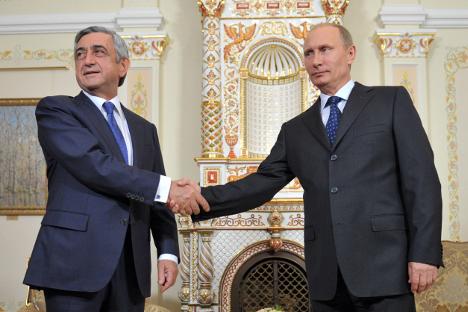 За разлика од Русија, ЕУ не ѝ даде на Ерменија гаранција за територијалната целост. Извор: РИА Новости