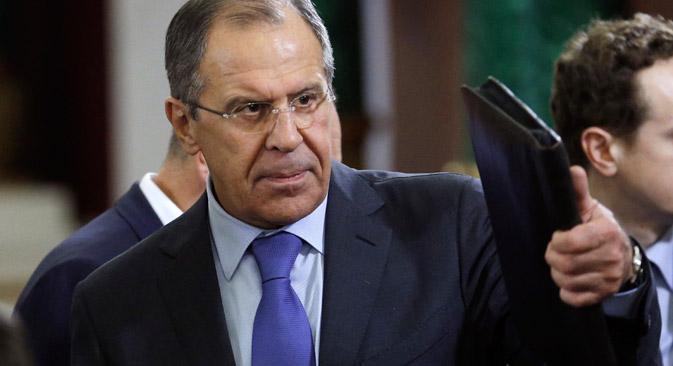 Сергеј Лавров: Сиријско руководство је добровољно приступило Конвенцији о забрани употребе хемијског оружја. Није важно из ког разлога је оно то учинило. Извор: AP.