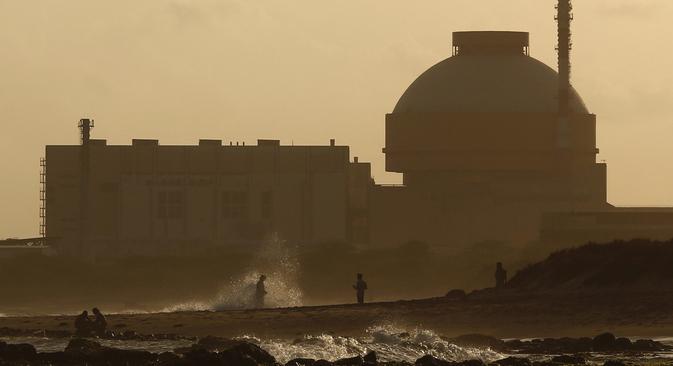 """Нуклеарна електрана """"Куданкулам"""" у држави Тамил Наду на југу Индије изграђена је по руској технологији и под руским руководством, док су саме радове извеле индијске компаније. Извор: Reuters."""