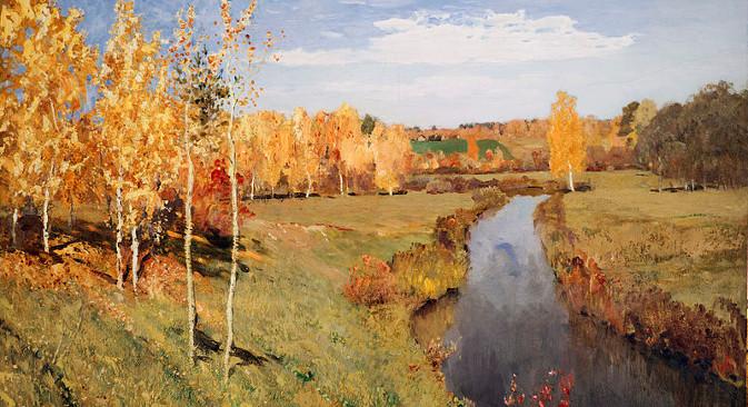 """Quadro de Isaak Levitan """"Outono dourado"""" (1895)"""