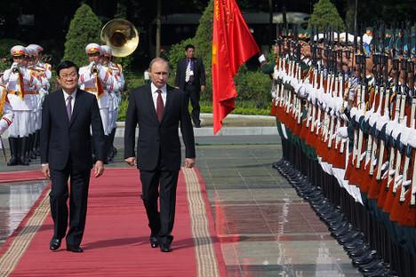 Придруживање Вијетнама зони слободне трговине омогућиће Русији да до 2020. достигне промет робе од 10 милијарди долара. Извор: Росијска газета.
