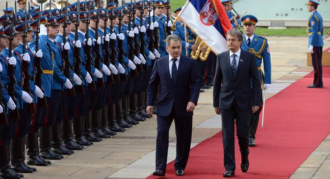 Шојгуовом посетом Београду знатно је проширена сфера војних контаката Русије и Србије. Извор: mod.gov.rs