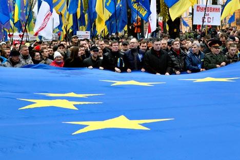 Протест у Украјини није остао у границама масовних митинга Кијевљана. Извор: ИТАР-ТАСС.
