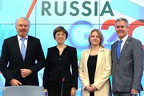 """Учесници руског самита Г-20 кажу да је проблем незапослености """"први пут разматран"""", и то """"не као последица економског раста, него као његов узрок"""". Извор: ИТАР-ТАСС."""