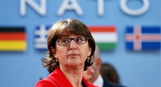 Маја Панџикидзе, министарка спољних послова Грузије: За Грузију је обнављање дипломатских односа са Русијом пожељно, јер подразумева укидање окупације. Извор: Reuters.