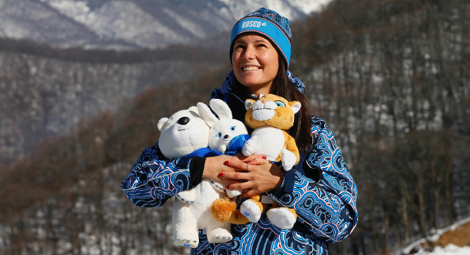 Маскоте прве руске зимске олимпијаде биће животиње карактеристичне за Русију: снежни леопард, зец и бели медвед. Извор: Alamy / Legion Media.