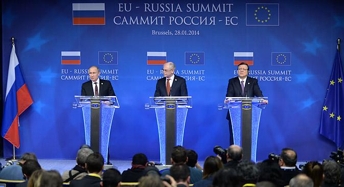 Владимир Путин је рекао да би експерти могли размотрити стварање зоне слободне трговине између ЕУ и Евроазијске економске уније. Извор: Photoshot / Vostock-Photo.