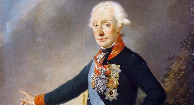 Јозеф Крајцингер: Портрет А. В. Суворова (1799).