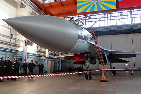 Већ сада је на бази Су-35С реализована практично читава идеологија ловачких авиона пете генерације. Извор: Ксенија Семенко.