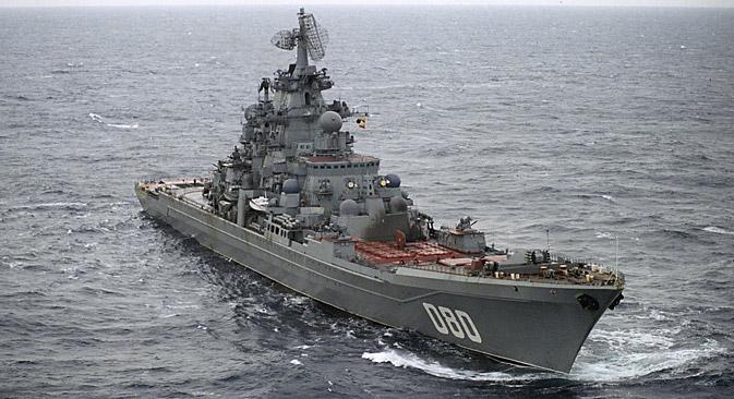 """Солидне димензије, добра заштита, као и моћно ударно и одбрамбено наоружање Американцима су дали повод да овај тип бродова зову """"ракетни бојни бродови"""". Извор: Олег Ласточкин / РИА """"Новости""""."""