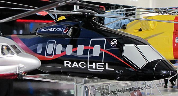 Пројекат перспективног средњег хеликоптера представљен је светском тржишту под називом RACHEL (Russian Advanced Commercial Helicopter). Извор: Theirry Dubois.