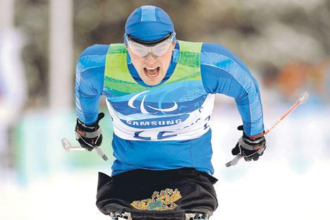 На Зимским параолимпијским играма у Ванкуверу 2010. најуспешнији руски спортиста био је Ирек Зарипов са четири златне медаље и једном бронзаном. Извор: Getty Images / Fotobank.