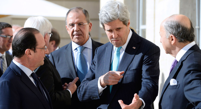 Top diplomats from the West and Russia discuss Ukraine. Source: AP